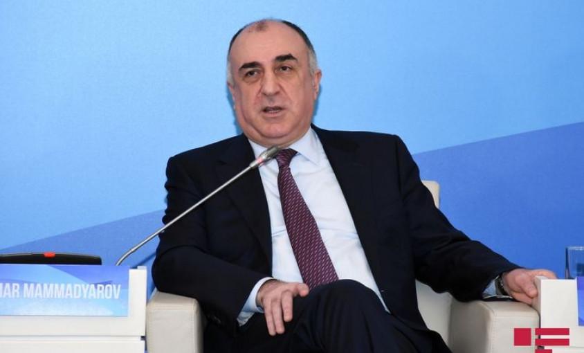 """Elmar Məmmədyarov: """"Qarabağın azərbaycanlı əhalisi geri qayıtmadan, hansı statusdan danışa bilərik?"""""""