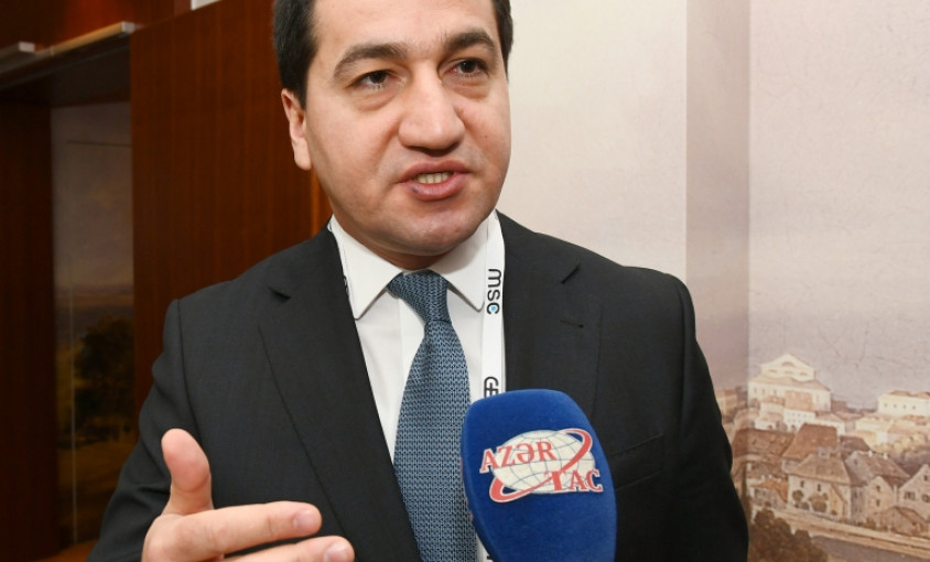 Hikmət Hacıyev: Dünya ictimaiyyəti bir daha Ermənistanın acizliyini, yalana əsaslanan tezislərinin darmadağın olduğunu gördü