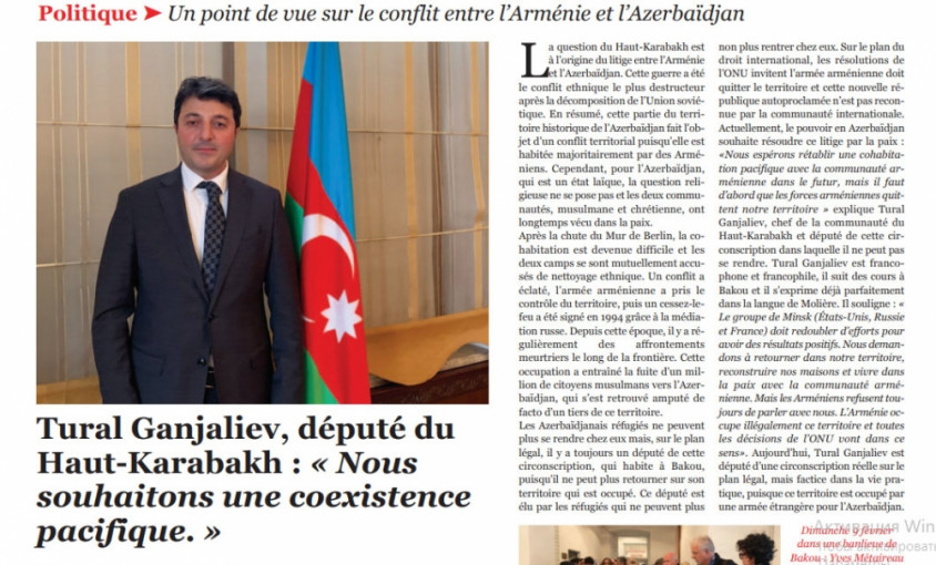 Fransa jurnalının 10 səhifəsi Azərbaycana həsr olunub